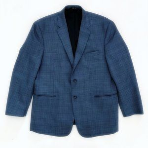 JOS A BANK Plaid Tailored Fit Blazer Jacket 46R